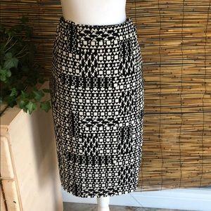 Pencil skirt knit